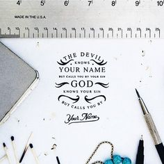 The difference between God and the devil. Beautiful type and composition by @noeltheartist by ligaturecollective