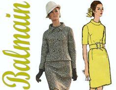 jaren 1960 mod jurk en jas patroon VOGUE door ThePerfectPattern