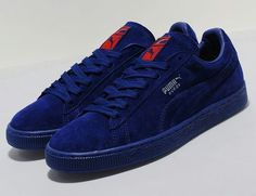 a6736d6d02 The PUMA Suede Blue/Cherry Red provides self explanatory style, offering  said composition in said colorway. An all blue upper benefits from cherry  red ...