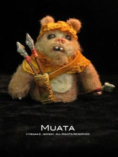 """One of the Ewok finger puppets I made for the group show, """"Star Wars Strikes Back!"""""""