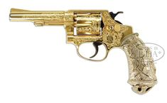 ENGRAVED & GOLD PLATED SMITH & WESSON MODEL 30-1 DA REVOLVER Loading that magazine is a pain! Get your Magazine speedloader today! http://www.amazon.com/shops/raeind