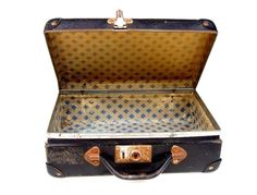 Small FRENCH Black Suitcase Vintage Luggage by FrenchMarketFinds, €28.00