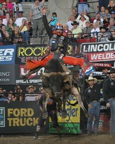 Hanging on for dear life. It takes on a whole new meaning when you're riding a bucking bull 10 times your size. But that's just another day at the office for PBR star Austin Meier.