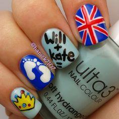 royal baby by hanick7107 #nail #nails #nailart