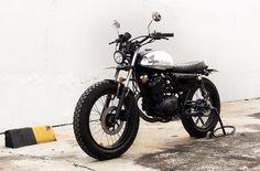 Street Tracker - Suzuki Thunder 125cc with Honda S90Z tank