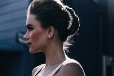 An elegant up-do look with an old hollywood feel! #updohair #vintage #oldhollywood