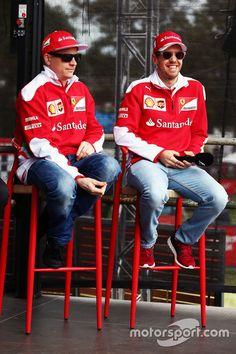 Kimi Raikkonen, Ferrari and Sebastian Vettel Ferrari. The two very best!
