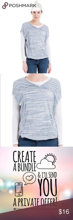 37b735ffe0a8d Max Studio Cotton Bubble Hem Top NWT This top, cut from soft cotton, will
