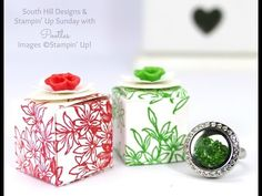 South Hill Designs & Stampin' Up! Sunday 1 Inch No Glue Ring Box Tutorial