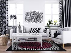 The TRÅDKLÖVER series works so perfectly to tie this room together.