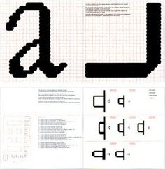 New alphabet, an introduction for a programmed typography hilversum, 1967 Wim Crouwel The Quadrat Print in which Crouwel made his proposal for a new typeface more suitable than traditional type for the cathode-ray Typo Design, Graphic Design, Printed Matter, Alphabet, Typography, Design Inspiration, International Style, Type, Proposal