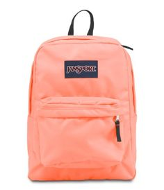 JanSport Superbreak Backpack, Coral Peaches   - Click image twice - See a larger selection of little girls backpacks at http://kidsbackpackstore.com/product-category/little-girls-backpack/ - kids, juniors, back to school, kids fashion ideas, school supplies, backpack, bag , teenagers, girls, boys, gift ideas