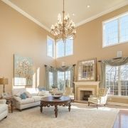 beautiful two story great room