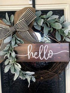Diy Wreath, Grapevine Wreath, Wreath Crafts, Wreath Ideas, Boxwood Wreath, Wreath Making, Diy Ikea Hacks, Diy Christmas Decorations, Diy Christmas Wreaths