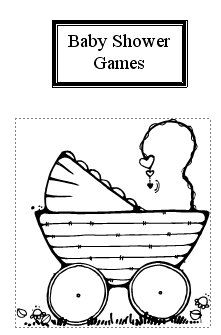 Customizable and printable baby shower games
