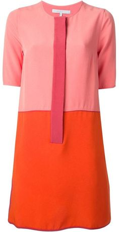 Victoria Beckham two-tone dress