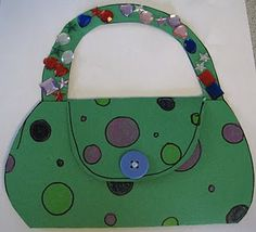 """Mother's Day purse card or possibly even a project to make when we work on the letter """"P"""""""