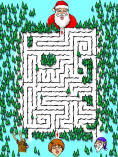 color santa maze