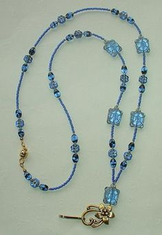SAPPHIRE TURTLE~BEADED LANYARD~ID BADGE HOLDER~LANYARD~BREAK AWAY $40.00