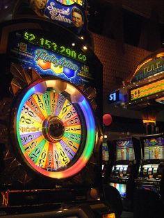 """""""Wheel of Fortune"""" slot machine game at the Tachi Palace Casino in Lemoore, California."""