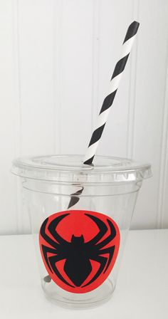 12 Spiderman Party Cups,Superhero Party Cups, Spiderman Birthday Party, Spiderman Decorations, Spider Cups by LuluBellaCreations on Etsy - visit to grab an unforgettable cool Super Hero T-Shirt! Birthday Party Places, 1st Birthday Party Invitations, Carnival Birthday Parties, Birthday Party Decorations, Boy Birthday, Spiderman Theme Party, Superhero Party, Avengers Birthday, Party Cups