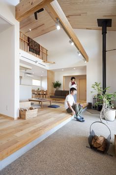 Modern Japanese Interior, Japanese Style House, Japanese Interior Design, Home Room Design, Home Interior Design, Interior Architecture, Muji Home, Modern Bungalow House, Casas Containers