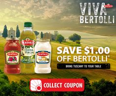Viva Bertolli Sweepstakes – USA Get This Offer: http://www.freestuffcloud.com/viva-bertolli-sweepstakes.html #VivaBertolli #SweepstakesUSA #BringTuscany
