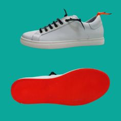 Sneakers vera pelle bianca con suola arancio basse Made in Italy One Way Sneakers, Shoes, Fashion, Tennis, Moda, Slippers, Zapatos, Shoes Outlet, Fashion Styles