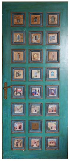 authentic old  Jerusalem Turquoise Door by karniart on Etsy