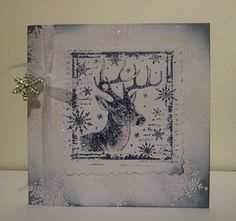 Crafty Individuals stamped Christmas card