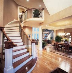 I love how the staircase curves.