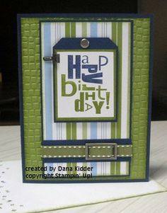 great use of color with HB stamp