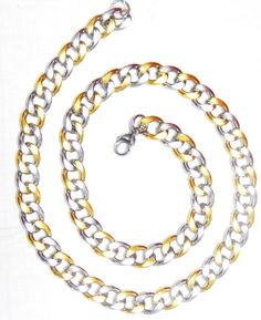Glam Men Antique chain Silver and Gold combination