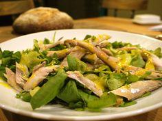 rhubarb & Mackerel salad
