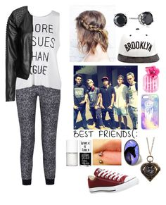 """""""At Nando's with the janoskians"""" by xxabbeybearxx ❤ liked on Polyvore featuring Splendid, JUST DON, Victoria's Secret, Uslu Airlines, Converse and Zizzi"""