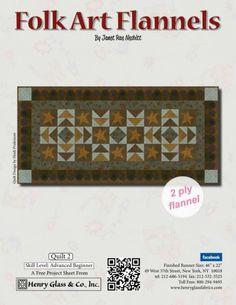 Folk Art Flannels - Quilt 2 by Janet Rae Nesbitt of One Sister Designs