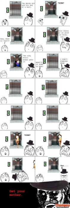 Amish in mall by Drunk. - A Member of the Internet's Largest Humor Community Derp Comics, Rage Comics, Funny Comics, Amish People, Troll Meme, Rage Faces, Funny Comic Strips, Funny Pins, Funny Faces