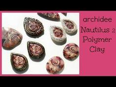 ▶ Polymer Clay Tutorial | Ammonite Cabochon | Nautilus Pendants | Incastonare col Fimo | ITALIANO - YouTube