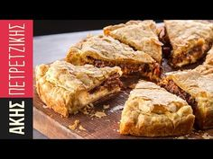 Beef and Beer Pithivier by Greek chef Akis Petretzikis. A super tasty pithivier pie with soft beef, healthy vegetables, béchamel sauce and rich stout beer! Greek Recipes, Pie Recipes, Cooking Recipes, Leftover Turkey, Turkey Leftovers, Low Sodium Recipes, Bechamel Sauce, Savory Tart, Pie