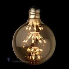 FIREWORKS žiarovka – SHINES - je žiarovka z retro kolekcie  FIREWORKS v tvare gule z minulého storočia. Tento nový typ žiarovky spája historický vzhľad s novou formou LED technológie. Tvarované sklo žiarovky má vzhľad tradičných EDISON žiaroviek a hodí sa ako dekoračné osvetlenie do každej domácnosti, reštaurácie alebo do hotela. Na rozdiel od iných typov dekoračných žiaroviek nevyžaruje UV žiarenie, čo je bezpečnejšie pre dlhodobé použitie a je menej atraktívna pre hmyz