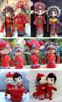 Вязание крючком куклы электронные учебники графические китайский китайский китайский стиль свадьбы кукла ручной работы шерсти DIY- Taobao глобальной станции