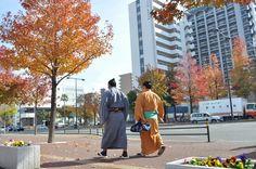 Sumo arriving at the Kokusai Center (福岡国際センター) ~ Hakata Ward, Fukuoka City, Fukuoka Prefecture. A Sumo Tournament is held here every November and runs for 15 days. Six tournaments are held every year: three in Tokyo (January, May and September) and one each in Osaka (March), Nagoya (July) and Fukuoka (November). At present there are 800 rikishi from trainee level to the highest, the yokozuna. (Photo: xgaijinsmashx.blogspot.sk, November 22, 2010)