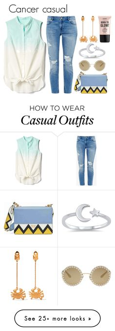 """""""Cancer casual"""" by lottie2004 on Polyvore featuring Valentino, Gap, Ted Baker, Prada, Dolce&Gabbana, NYX, moon, zodiac and cancer"""