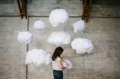 DIY Hanging Clouds Backdrop