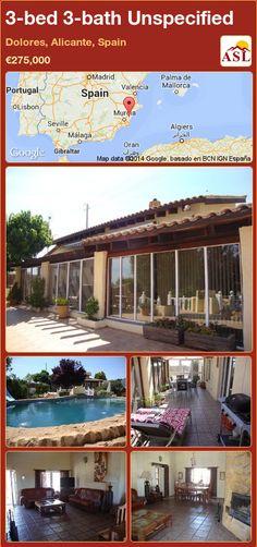 3-bed 3-bath Unspecified in Dolores, Alicante, Spain ►€275,000 #PropertyForSaleInSpain