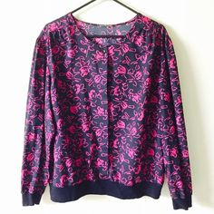 Vintage large long sleeve blouse Tags has been taken off!! Great condition.. Looks like Betsey Johnson Tops Blouses