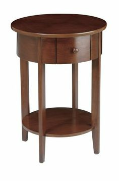Home Star Madison Accent Table By 107 35 Two Shelves And Concealed Drawer