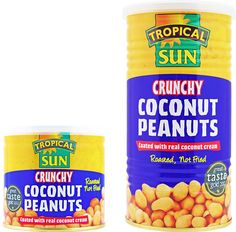 Tropical Sun's Award Winning Crunchy Coconut Peanuts give you the crunch of natural peanuts combined with the subtle taste of coconut. The unique snacking sensation is ideal with a cold drink and shared among friends. Beware: our crunchy coconut peanuts are addictive - once you start munching you cannot stop!