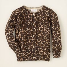 baby girl - leopard cardigan sweater | Children's Clothing | Kids Clothes | The Children's Place