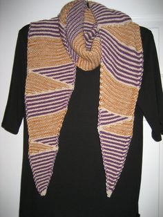 Handknitted scarf  Modern geometric stripes  by DutchDaisyDesign